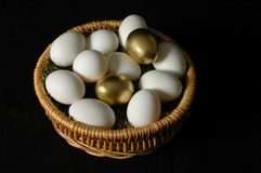 dwa złote jajka Obrazy Stock