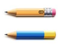 Dwa zaprawionego ołówka ilustracji