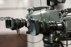 Dwa zbliżeń kamery obiektyw Zdjęcia Royalty Free