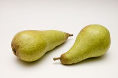 dwa zielone gruszki Obraz Royalty Free