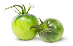 Dwa zielonego pomidoru blisko Fotografia Stock