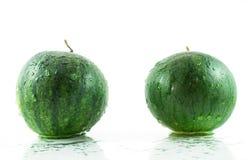 Dwa Zielony Arbuz Fotografia Royalty Free