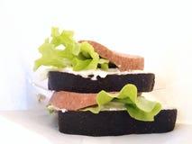 Dwa zwyczajnej kanapki Obraz Stock