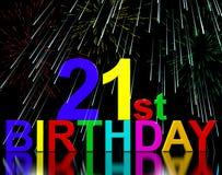 Dwadzieścia Pierwszy Lub 21st urodzin Świętujących Obraz Stock