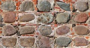 Dwadzieścia prostokątnych czerepów forteczna ściana kasztel Zdjęcia Stock