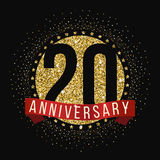Dwadzieścia rok rocznicowego świętowanie logotypu 20th rocznicowy logo Zdjęcie Stock