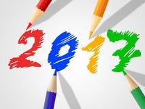 Dwadzieścia Siedemnaście Wskazują nowego roku I rocznika royalty ilustracja
