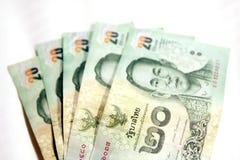 Dwadzieścia bahtów Tajlandzki banknot fotografia stock
