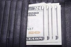 Dwadzieścia Dolarowych rachunków Obraz Royalty Free