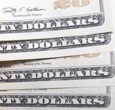 Dwadzieścia Dolarowych rachunków Zdjęcia Stock