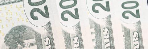 Dwadzieścia Dolarowych rachunków Fotografia Stock