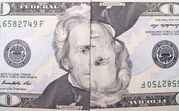 Dwadzieścia Dolarowych rachunków Zdjęcie Stock