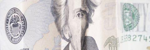 Dwadzieścia Dolarowych rachunków Obraz Stock