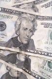 Dwadzieścia Dolarowych rachunków Zdjęcia Royalty Free