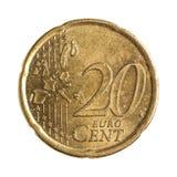 Dwadzieścia euro centów Zdjęcie Royalty Free
