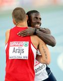 Dwain Chambers of Great Britain Royalty Free Stock Photos