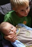 dwaj bracia Zdjęcia Royalty Free