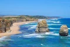 Dwanaście apostoła morza skał Zdjęcie Stock