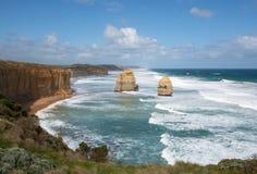 Dwanaście apostołów, Portowy Campbell park narodowy, Wiktoria, Australia Obrazy Royalty Free