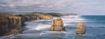 Dwanaście apostołów rockowa formacja w oceanie wzdłuż Wielkiej ocean drogi, Wiktoria, Australia Obraz Royalty Free