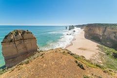 Dwanaście apostołów, sławny punkt zwrotny wzdłuż Wielkiej ocean drogi, Aus Obraz Royalty Free