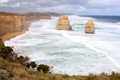 Dwanaście apostołów wzdłuż Wielkiej ocean drogi Fotografia Royalty Free