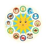 Dwanaście znaków zodiak Obrazy Stock