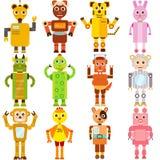Dwanaście zodiaków robotów Obrazy Royalty Free