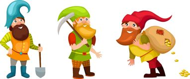 Dwarf. Vector Illustration of a cute dwarf Stock Photos