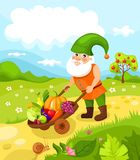 Dwarf. Vector Illustration of a cute dwarf Stock Photography