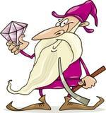 Dwarf with diamond Royalty Free Stock Photography