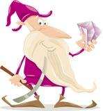 Dwarf with diamond cartoon illustration Stock Photo