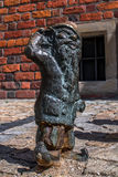 Dwarf Gluchek Wroclaw. Symbol of Wroclaw, brass dwarf. There are more than 230 in the city and still they come Stock Photos