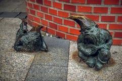 Dwarf Grajek and Meloman Wroclaw Royalty Free Stock Image