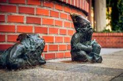 Dwarf Grajek and Meloman Wroclaw stock photo