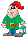 Dwarf with lantern Royalty Free Stock Photos