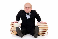 Dwarf, little man with books Stock Photography