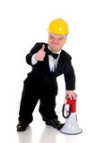 Dwarf, little man supervisor Royalty Free Stock Photo