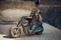 Dwarf Motocyklista Wroclaw Stock Images