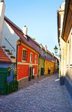 Dwarf old houses in Zlata Ulicka - ancient street of Prague Royalty Free Stock Image