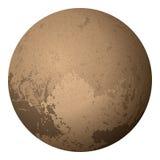 Dwarf Planet Pluto,  on White Stock Image