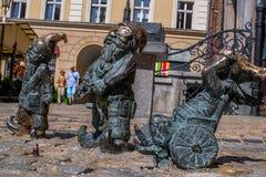 Dwarf Slepak Gluchak Wskers Wroclaw stock photos