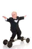 Dwarf, surfing to success Royalty Free Stock Photo