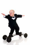 Dwarf, surfing to success Stock Images