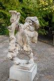 Dwarf with turban statue in Dwarf Garden. Mirabellgarten or Mirabell garden is garden of Mirabell Palace in Salzburg. Austria stock images
