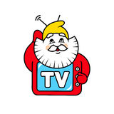 Dwarf TV sign Royalty Free Stock Photography