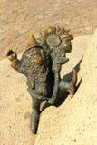 Dwarf in wroclaw. Leprechauns sculptures - happy dwarf in wroclaw market Royalty Free Stock Photos