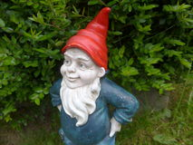 Dwarfe do jardim com barba e um chapéu vermelho Imagens de Stock