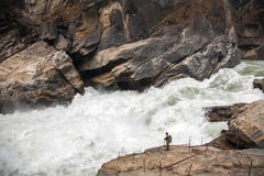 Dwarfed By The River Stock Photography