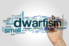 Dwarfism word cloud concept on grey background.  Royalty Free Stock Photos